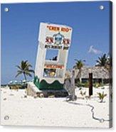 Chen Rio Beach Bar Cozumel Mexico Acrylic Print