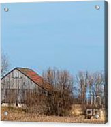 Chequerboard Barn Acrylic Print