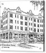 Cherokee Hotel Acrylic Print