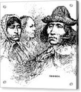 Cherokee Tribe. Engraved Portraits Acrylic Print by Everett