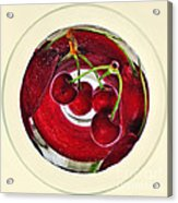 Cherries In A Wine Glass Acrylic Print