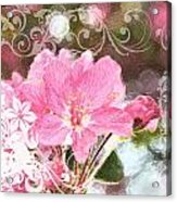 Cherry Blossom Art With Decorations Acrylic Print