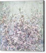 Cherry Blossom Grunge Acrylic Print