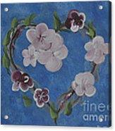 Cherry Blossom Heart Acrylic Print