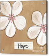 Cherry Blossom Hope Acrylic Print by Linda Woods