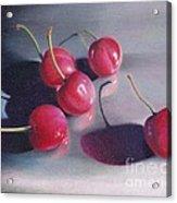 Cherry Talk Acrylic Print by Elizabeth Dobbs