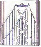 Chesapeake Bridge Between The Lines Acrylic Print