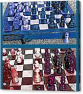Chess Board - Game In Progress Diptych Acrylic Print