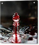 Chess Piece In Blood Acrylic Print