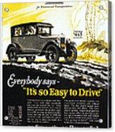 Chevrolet Ad, 1926 Acrylic Print