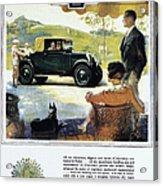 Chevrolet Ad, 1927 Acrylic Print