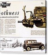 Chevrolet Ad, 1929 Acrylic Print