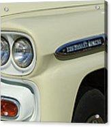 Chevrolet Apache 31 Fleetline Headlight Emblem Acrylic Print