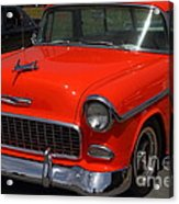 Chevrolet Bel-air Stationwagon . Orange . 7d15268 Acrylic Print