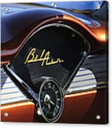 Chevrolet Belair Dashboard Clock And Emblem Acrylic Print