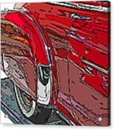 Chevrolet Fleetline Deluxe Rear Wheel Study Acrylic Print