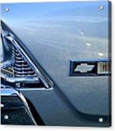 Chevrolet Headlights And Emblem Acrylic Print