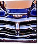 Chevrolet Pickup Truck Grille Emblem Acrylic Print