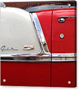 Chevy Belair Classic Trim Acrylic Print by Mike McGlothlen