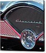 Chevy Dash Clock Acrylic Print
