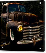 Chevy Hot Rat Rod Pickup Cowgirl's Last Stand Acrylic Print