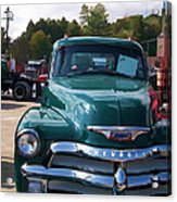 Chevy In Green Acrylic Print