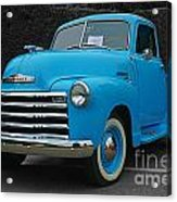 Chevy Pick-up With Bw Background Acrylic Print