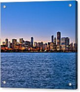 Chicago At Sunset Acrylic Print