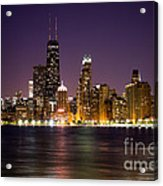 Chicago City At Night Photo Acrylic Print