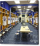 Chicago Cubs Dressing Room Acrylic Print by David Bearden