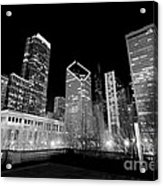 Chicago Downtown At Night  Acrylic Print