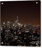 Chicago Glowing At Night Acrylic Print