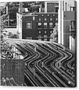 Chicago L Tracks Acrylic Print