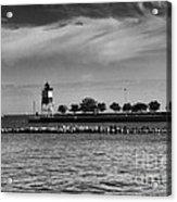 Chicago Lighthouse Acrylic Print by Leslie Leda