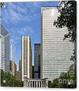 Chicago Millennium Monument And Fountain Acrylic Print by Christine Till