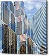 Chicago - One South Wacker And Hyatt Center Acrylic Print