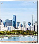 Chicago Panorama Skyline Acrylic Print by Paul Velgos