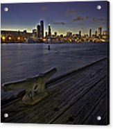 Chicago Skyline And Harbor At Dusk Acrylic Print by Sven Brogren
