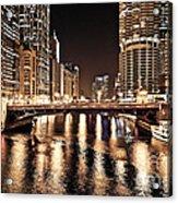 Chicago Skyline At State Street Bridge Acrylic Print
