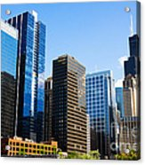 Chicago Skyline Downtown City Buildings Acrylic Print