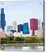 Chicago Skyline Lakefront Acrylic Print by Paul Velgos