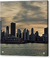 Chicago Skyline Navy Pier Acrylic Print