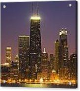 Chicago Skyscrapers With John Hancock Acrylic Print
