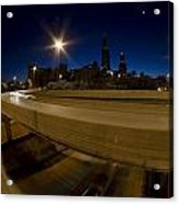 Chicago's Spaghetti Bowl Interchange At Dawn Acrylic Print
