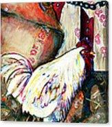 Chicken In The Barn Acrylic Print