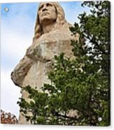 Chief Blackhawk Statue Acrylic Print by Bruce Bley