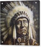 Chief Acrylic Print by Tim  Scoggins