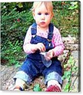 Child In Garden Acrylic Print