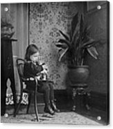 Child Putting A Campbell Kid To Sleep Acrylic Print by Everett