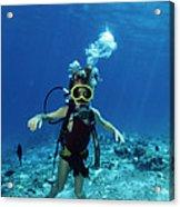 Child Scuba Diver Acrylic Print